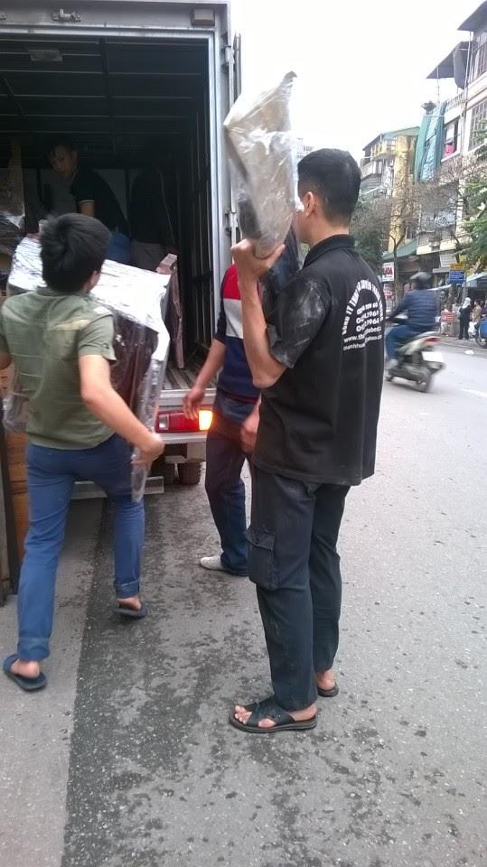 Hình ảnh chuyển nhà tại khu đô thị Linh Đàm