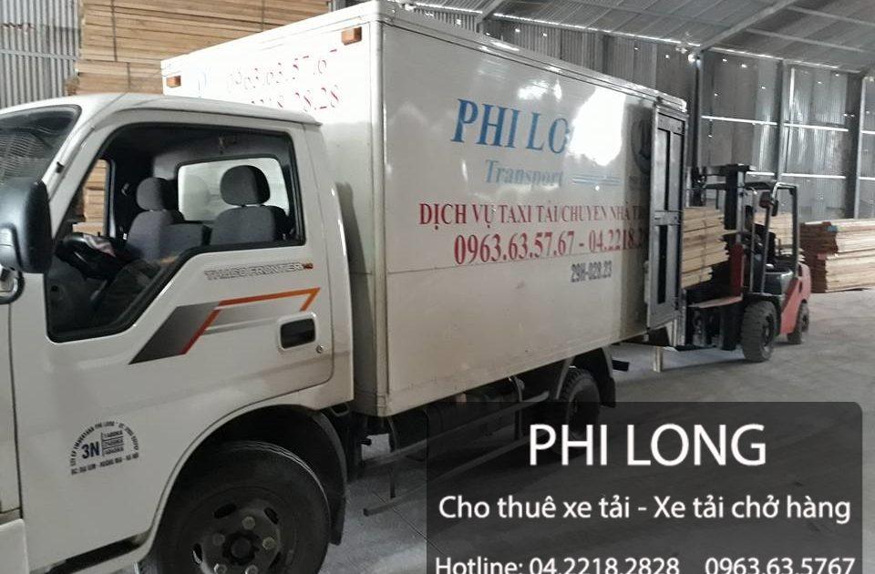 Xe tải nhỏ chở hàng tại đường Trương Định đi Vĩnh Phúc